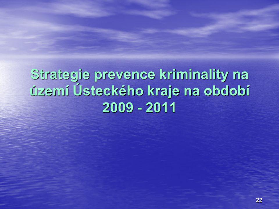 Strategie prevence kriminality na území Ústeckého kraje na období 2009 - 2011