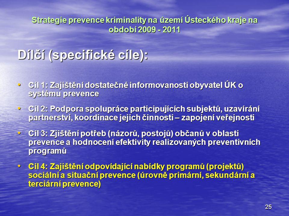 Dílčí (specifické cíle):