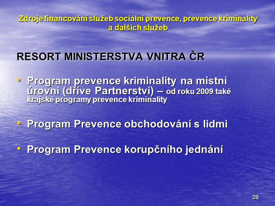 RESORT MINISTERSTVA VNITRA ČR