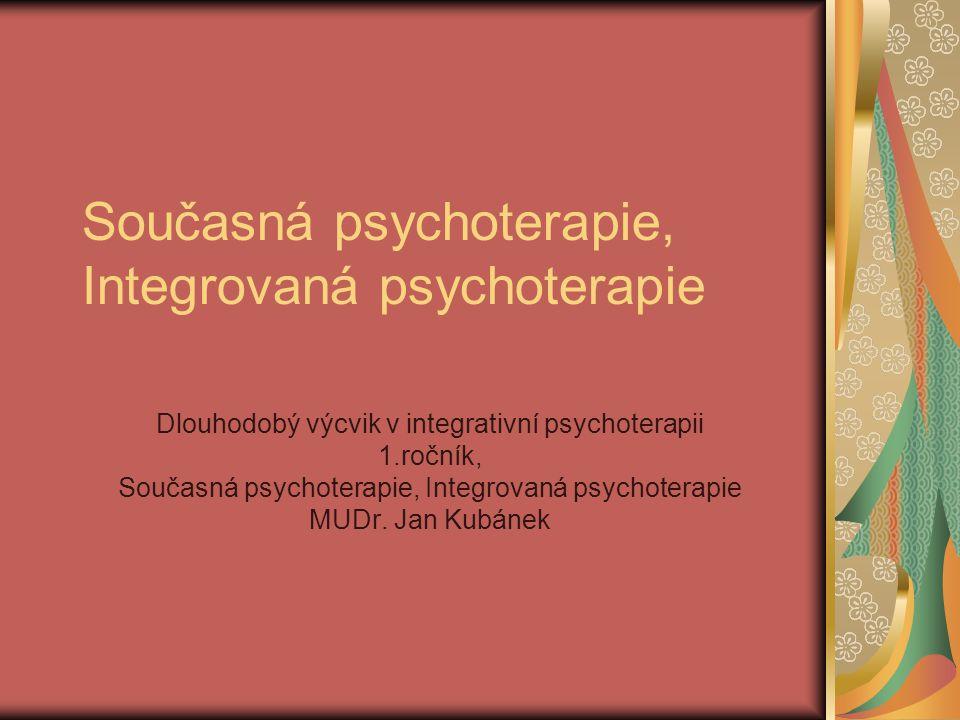 Současná psychoterapie, Integrovaná psychoterapie