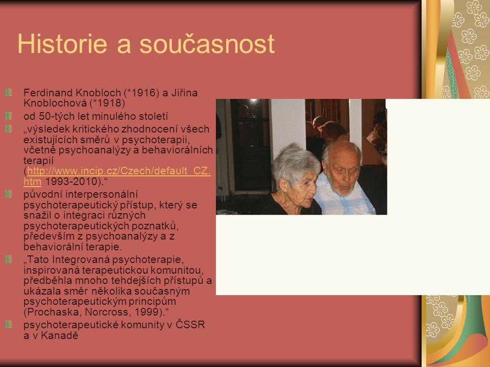 Historie a současnost Ferdinand Knobloch (*1916) a Jiřina Knoblochová (*1918) od 50-tých let minulého století.