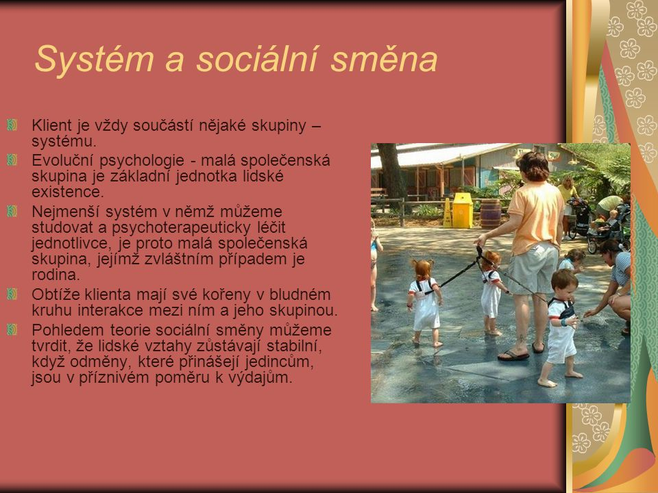 Systém a sociální směna