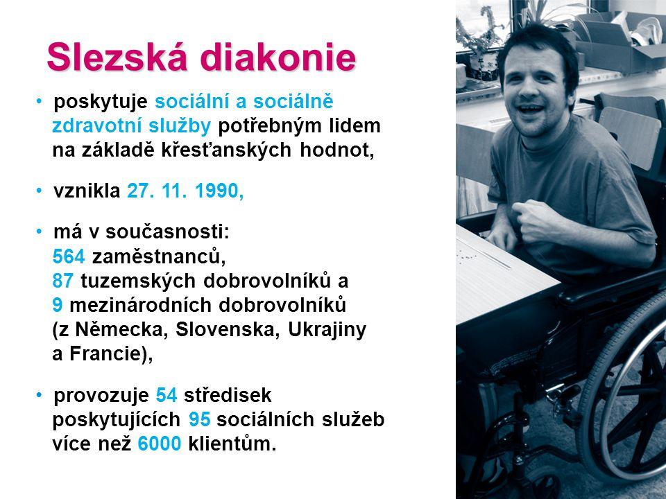 Slezská diakonie poskytuje sociální a sociálně