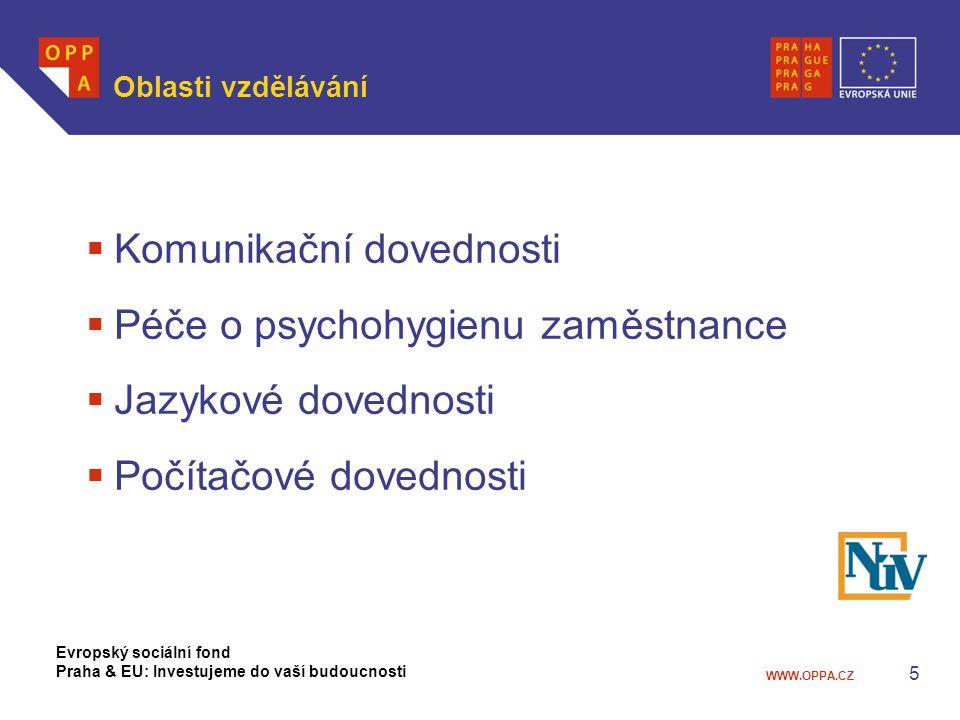 Komunikační dovednosti Péče o psychohygienu zaměstnance