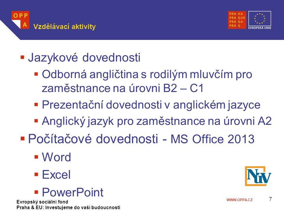 Počítačové dovednosti - MS Office 2013