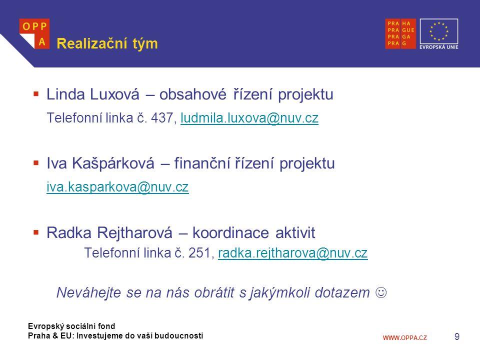 Linda Luxová – obsahové řízení projektu