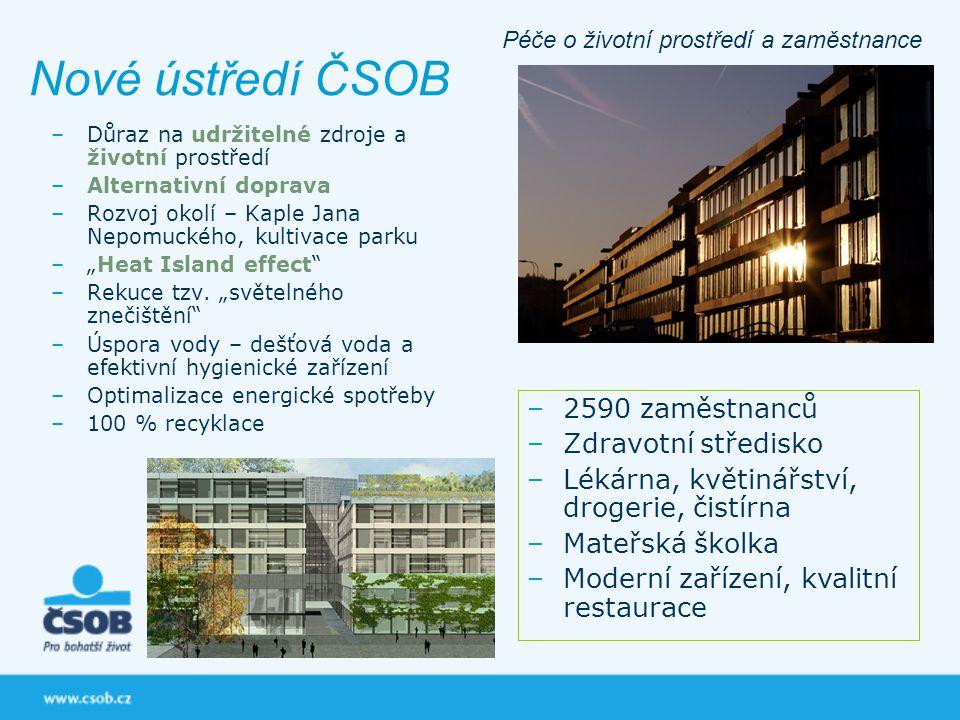 Nové ústředí ČSOB 2590 zaměstnanců Zdravotní středisko