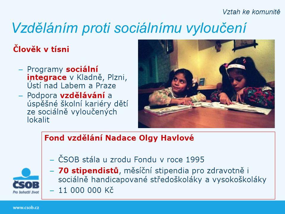 Vzděláním proti sociálnímu vyloučení