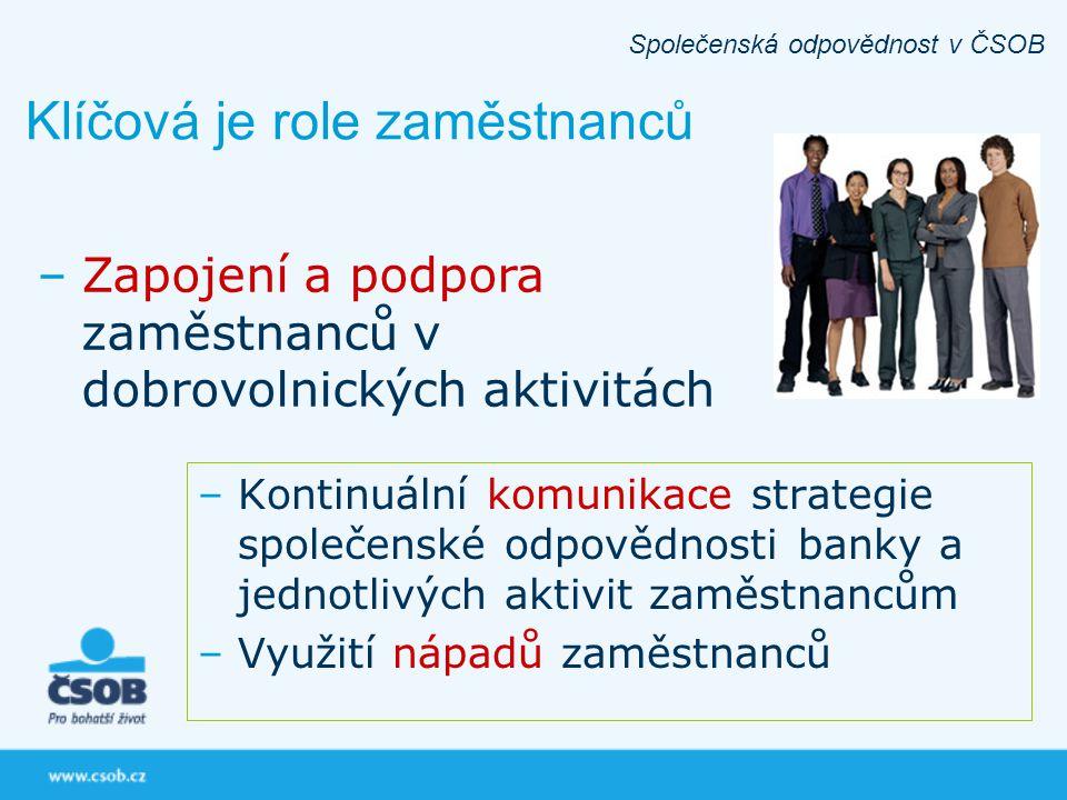 Klíčová je role zaměstnanců