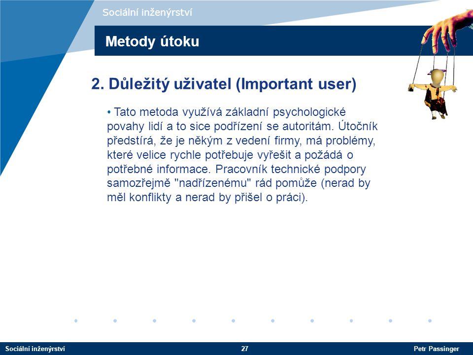 2. Důležitý uživatel (Important user)
