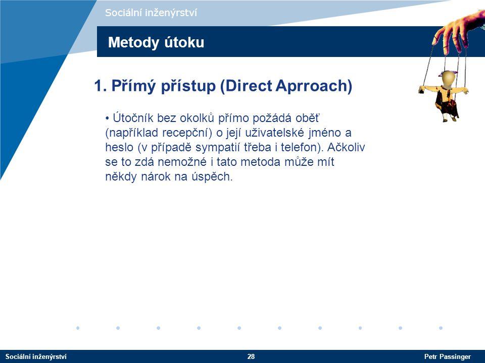 1. Přímý přístup (Direct Aprroach)