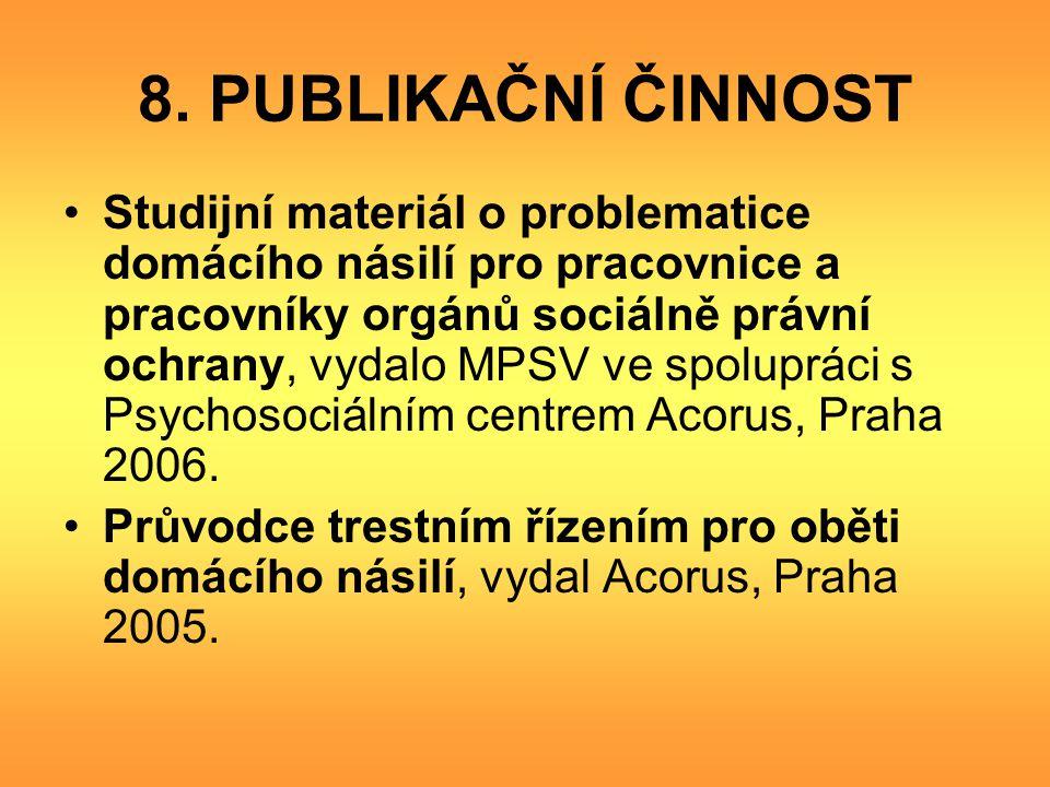 8. PUBLIKAČNÍ ČINNOST