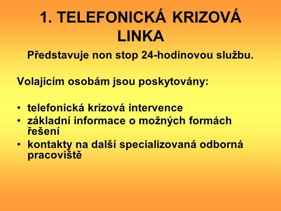 1. TELEFONICKÁ KRIZOVÁ LINKA