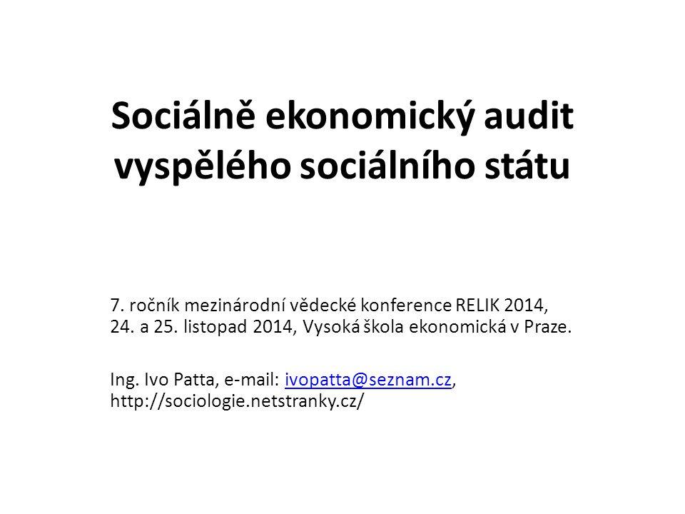 Sociálně ekonomický audit vyspělého sociálního státu