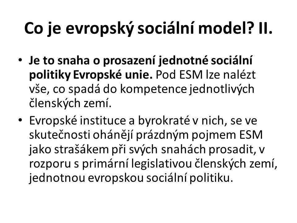 Co je evropský sociální model II.