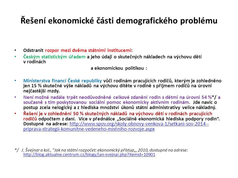 Řešení ekonomické části demografického problému
