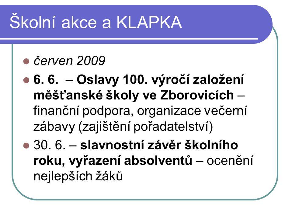 Školní akce a KLAPKA červen 2009