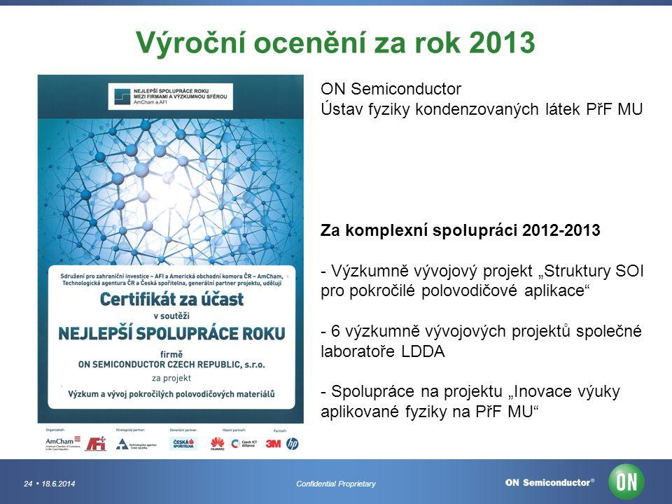 Výroční ocenění za rok 2013 ON Semiconductor
