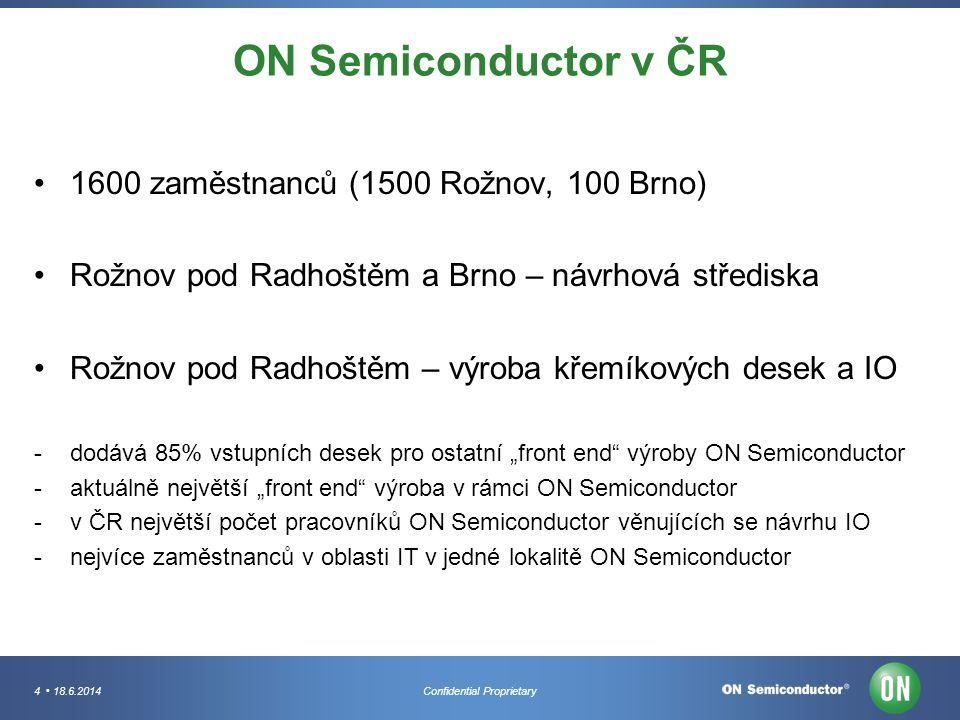 ON Semiconductor v ČR 1600 zaměstnanců (1500 Rožnov, 100 Brno)