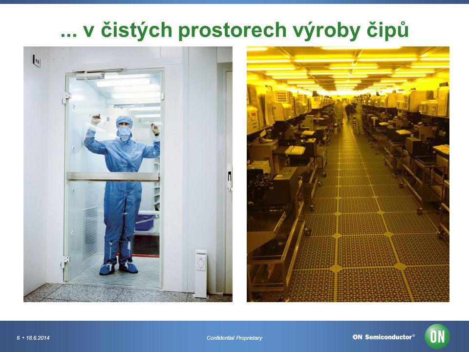 ... v čistých prostorech výroby čipů