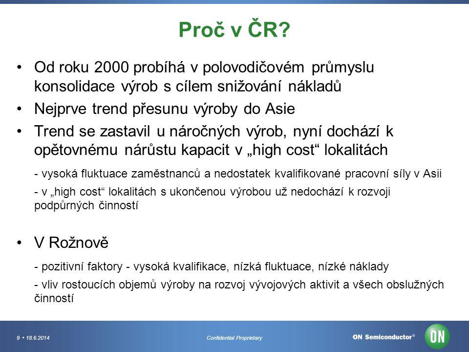 Proč v ČR Od roku 2000 probíhá v polovodičovém průmyslu konsolidace výrob s cílem snižování nákladů.