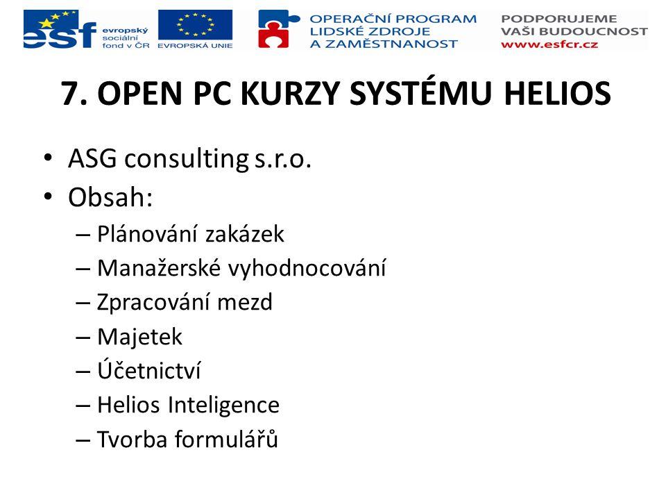 7. OPEN PC KURZY SYSTÉMU HELIOS
