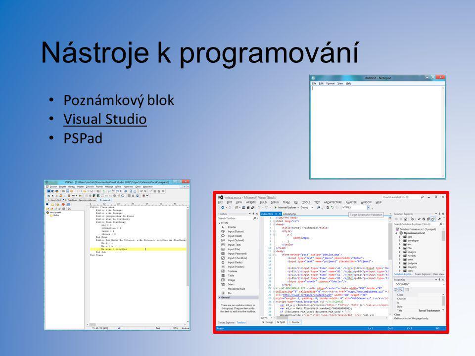 Nástroje k programování