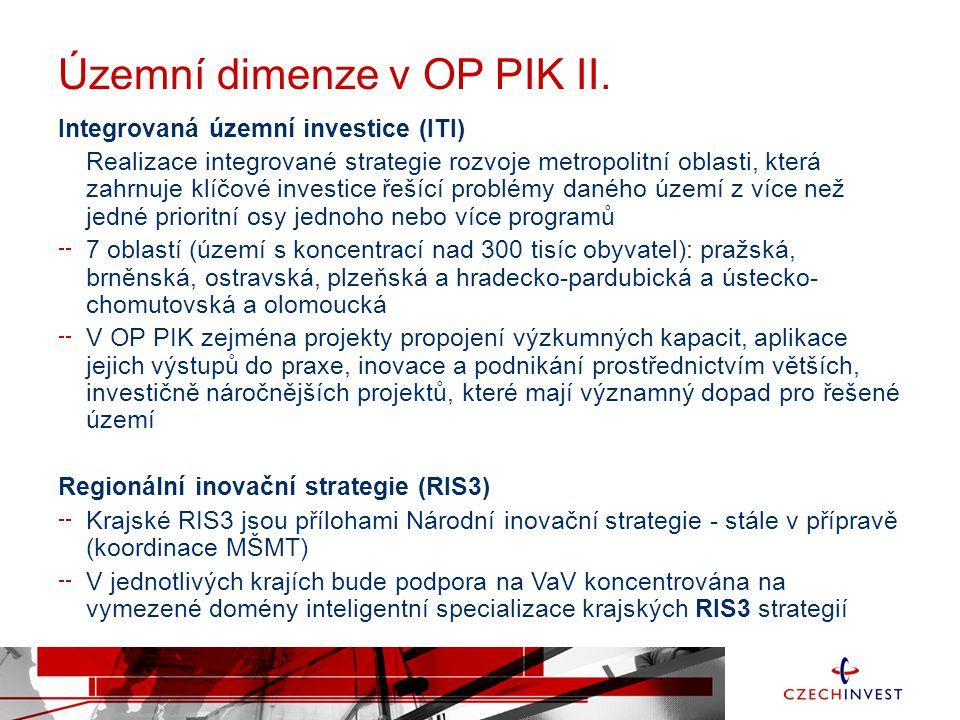 Územní dimenze v OP PIK II.
