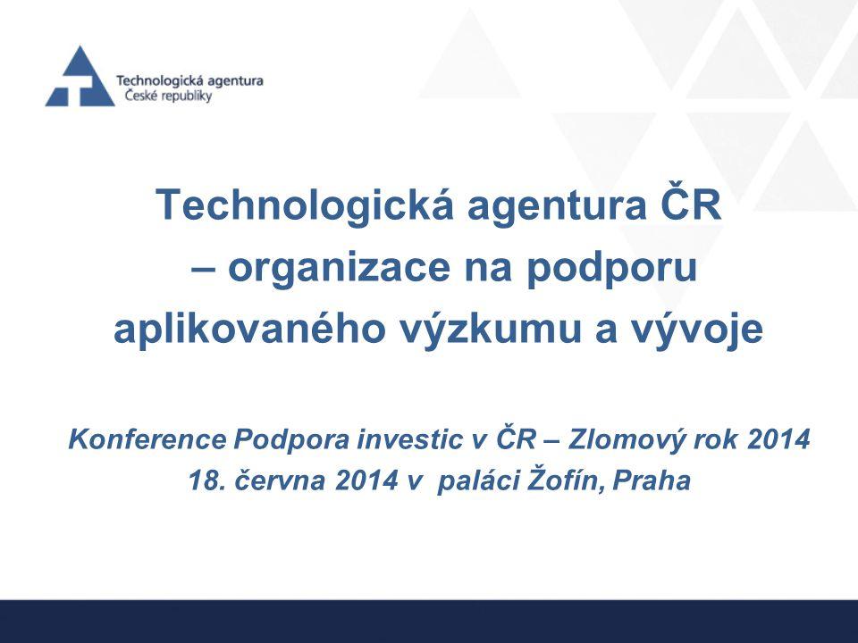 Technologická agentura ČR – organizace na podporu