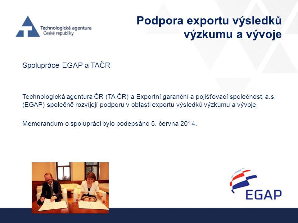 Podpora exportu výsledků výzkumu a vývoje