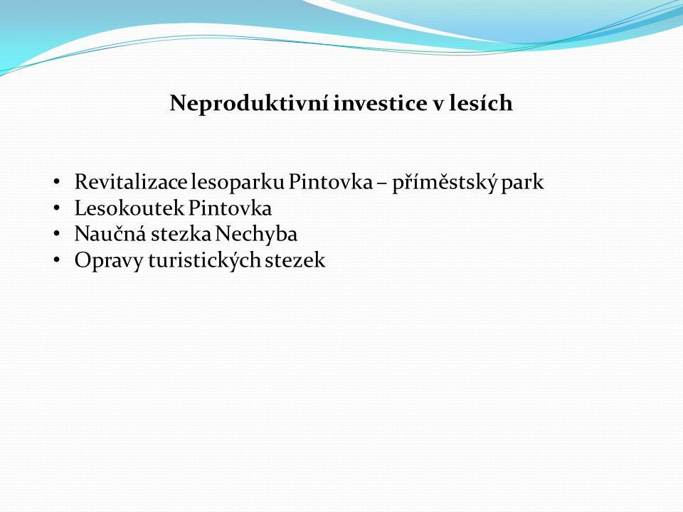 Neproduktivní investice v lesích