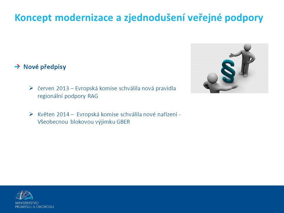 Koncept modernizace a zjednodušení veřejné podpory