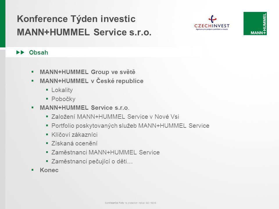 Konference Týden investic MANN+HUMMEL Service s.r.o.
