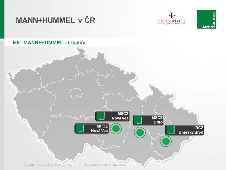 MANN+HUMMEL v ČR MANN+HUMMEL - lokality MSCZ Nová Ves MSCZ Brno MHCZ