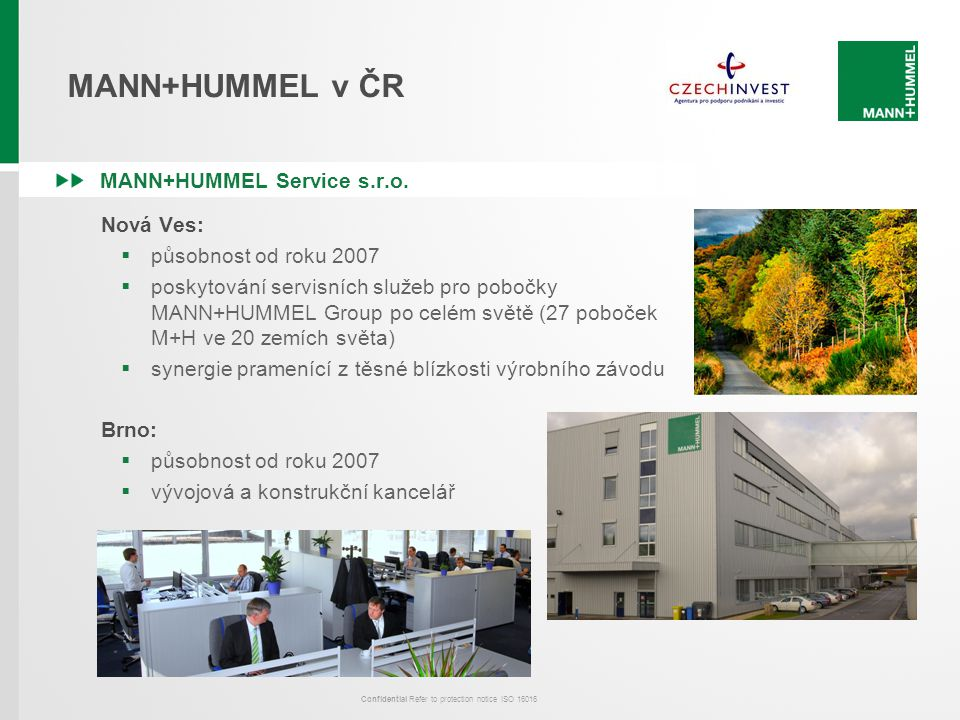 MANN+HUMMEL v ČR MANN+HUMMEL Service s.r.o. Nová Ves: