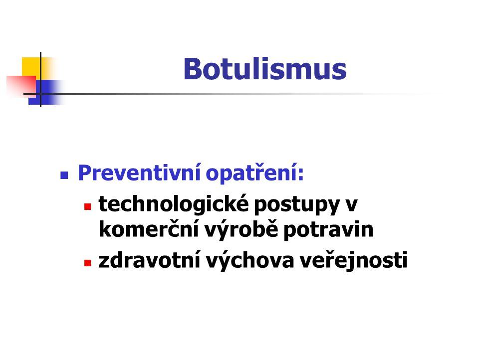 Botulismus Preventivní opatření: