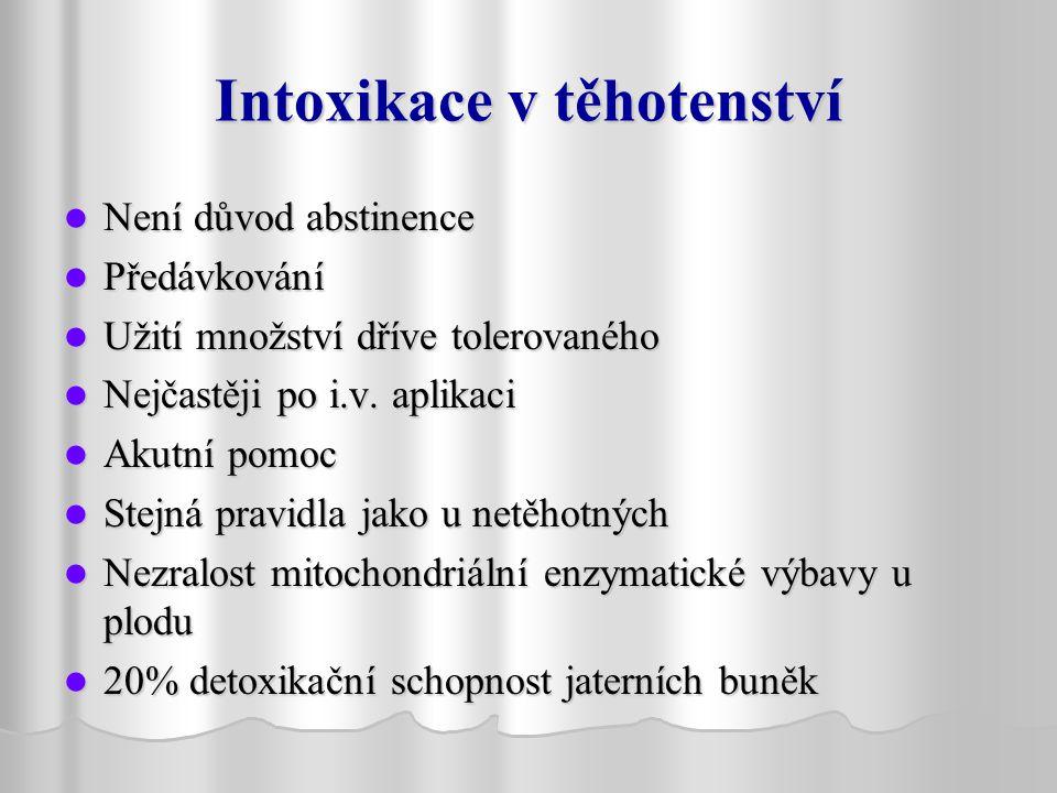 Intoxikace v těhotenství