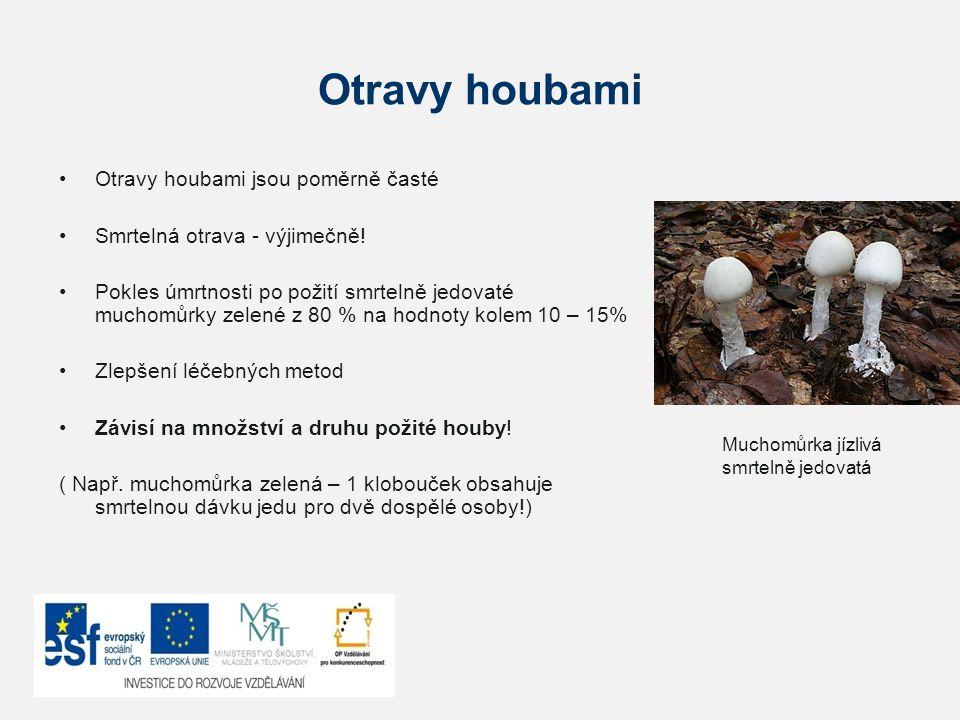Otravy houbami Otravy houbami jsou poměrně časté