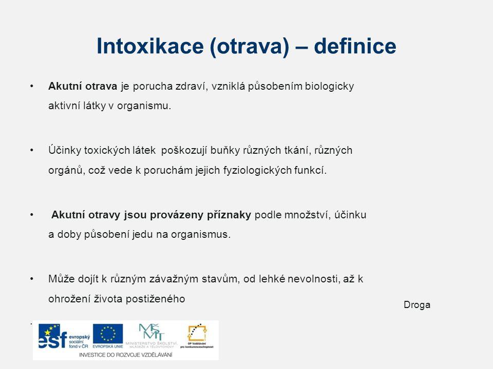 Intoxikace (otrava) – definice