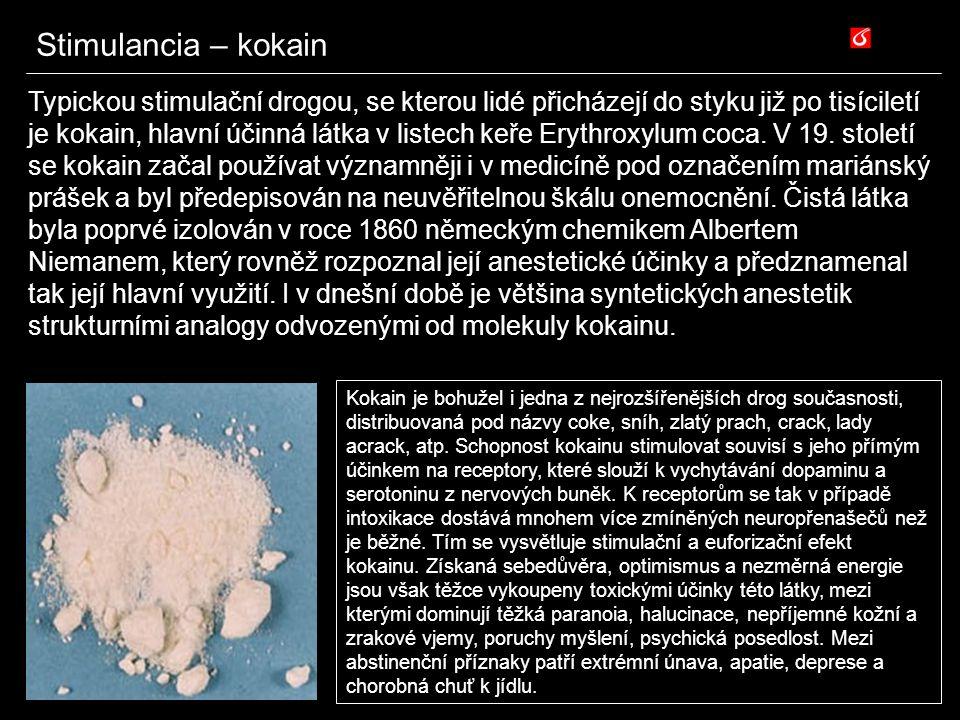 Stimulancia – kokain