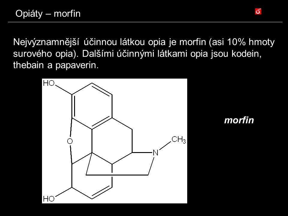 Opiáty – morfin