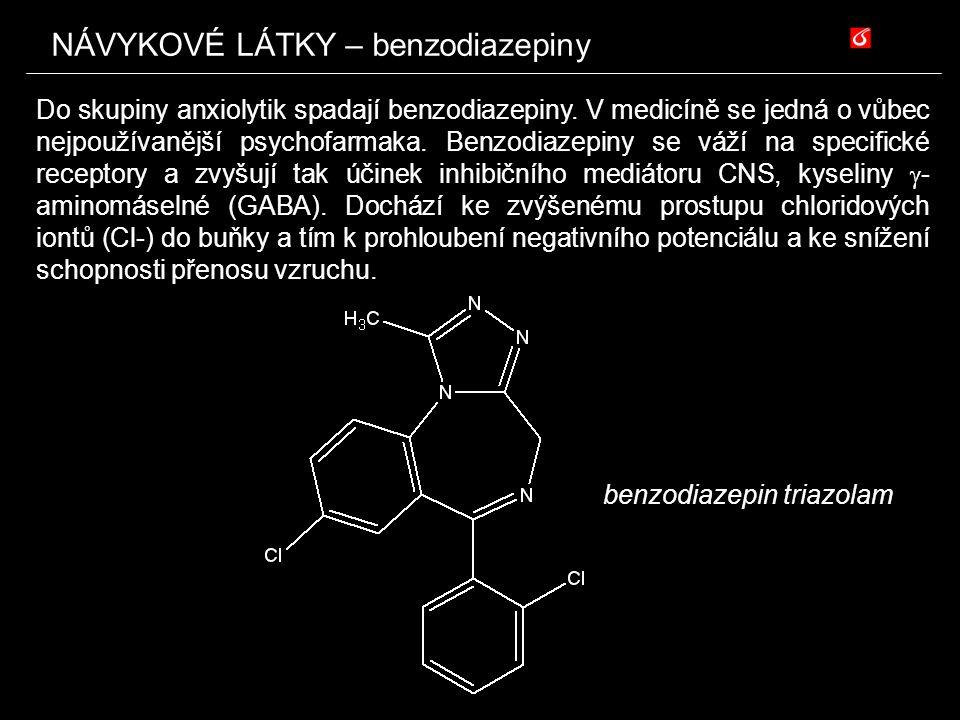 NÁVYKOVÉ LÁTKY – benzodiazepiny