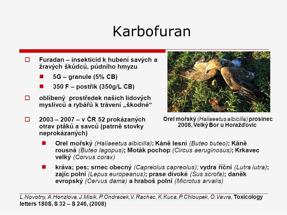 Karbofuran Furadan – insekticid k hubení savých a žravých škůdců, půdního hmyzu. 5G – granule (5% CB)