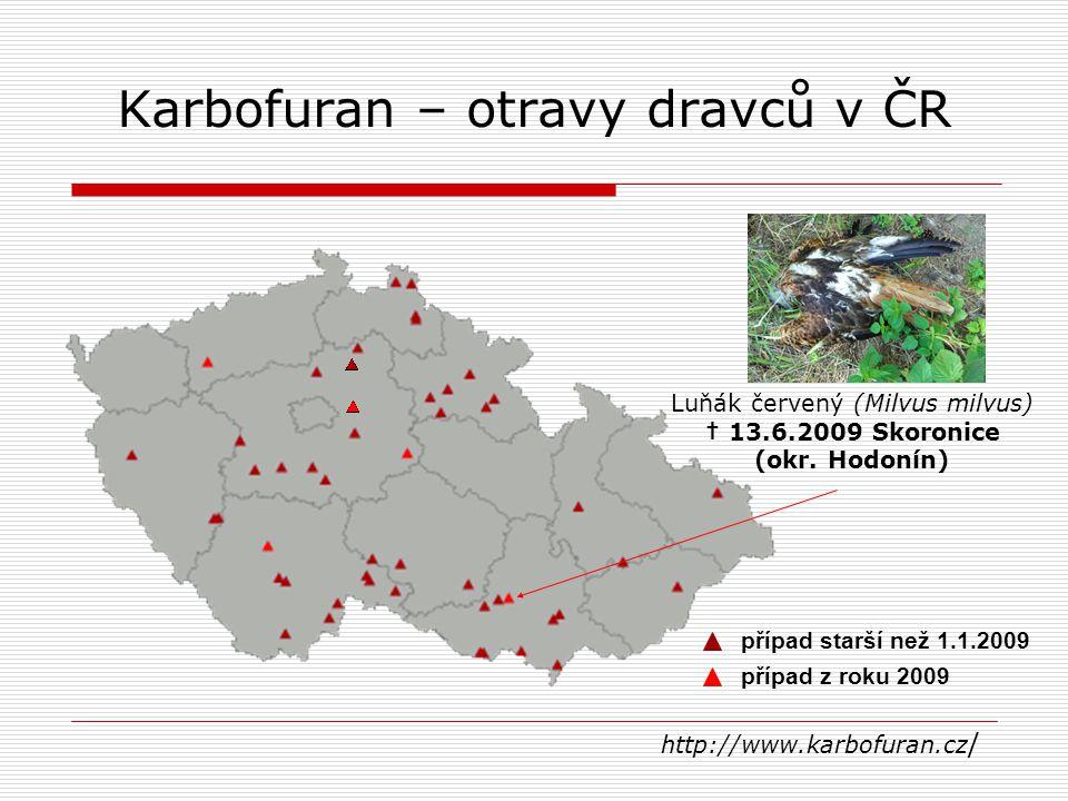 Karbofuran – otravy dravců v ČR