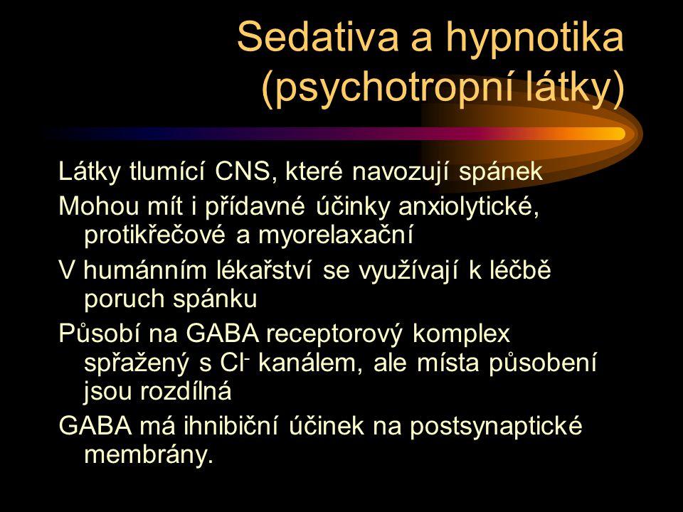Sedativa a hypnotika (psychotropní látky)