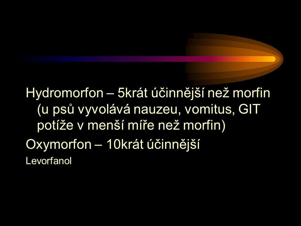 Oxymorfon – 10krát účinnější