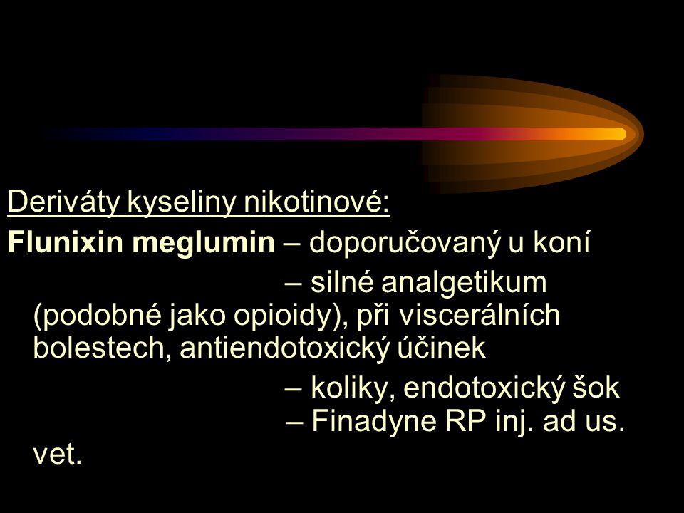 Deriváty kyseliny nikotinové: