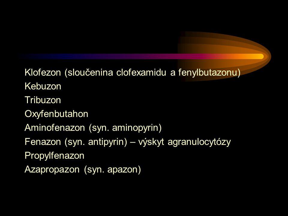 Klofezon (sloučenina clofexamidu a fenylbutazonu)