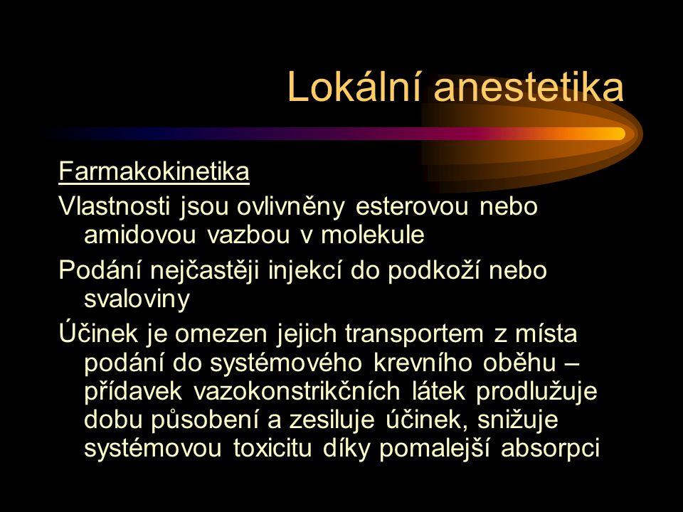 Lokální anestetika Farmakokinetika