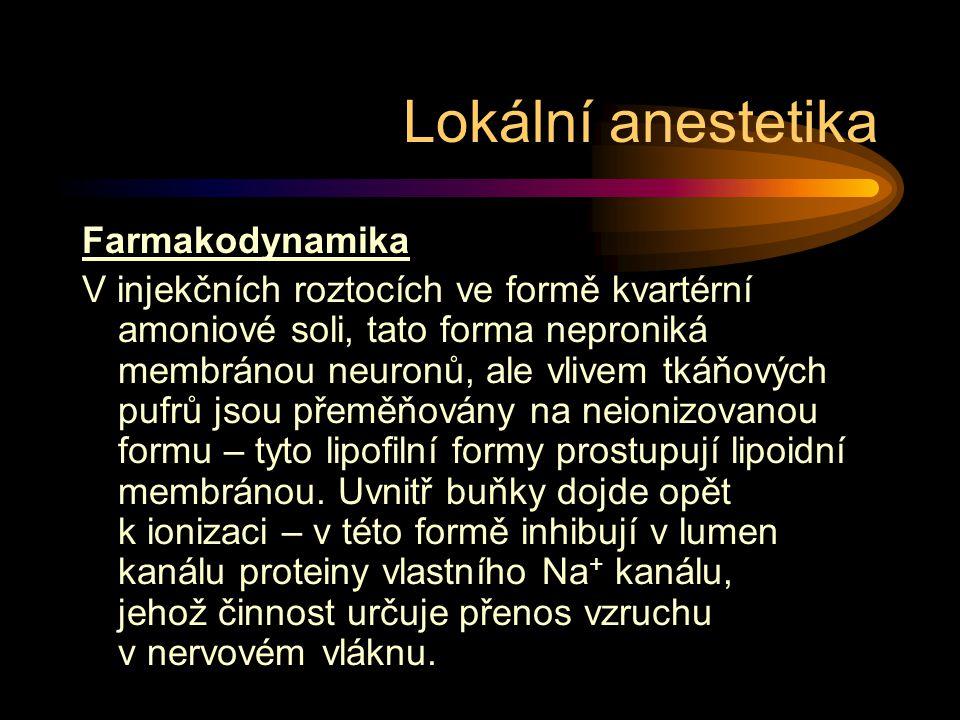 Lokální anestetika Farmakodynamika